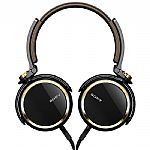 Sony MDRXB600 Extra Bass Headphones (black, gold)