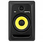 KRK Rokit RP6 G3 Active Studio Monitor Speaker (single, black with yellow cone)