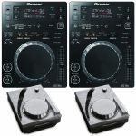 Pioneer CDJ350 Digital Multi CD USB Players (black, pair) + FREE Decksaver Pioneer CDJ350 Covers (pair)