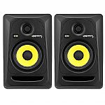 KRK Rokit RP5 G3 Active Studio Monitor Speakers (pair, black with yellow cones)