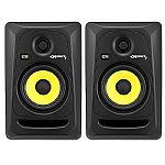 KRK Rokit RP5 G3 Active Studio Monitor Speakers (pair, black with yellow cones)