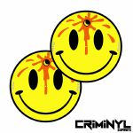 "Criminyl Dead Smiley 12"" Slipmats (pair)"