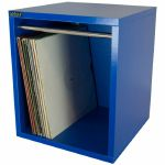 "Sefour LP 12"" Vinyl Record Carry Storage Box (small, bass blue)"