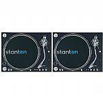 Stanton ST150 Digital Super High Torque DJ Turntables (pair)