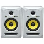 KRK Rokit RP5 G3 Active Studio Monitor Speakers (pair, white with yellow cones)