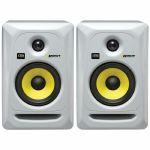 KRK Rokit RP5 G3 Active Studio Monitor Speakers (pair, white with yellow cones)