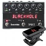 Eventide Space Programmable Reverb Effects Pedal + FREE Korg PC1 Pitchclip Clip On Guitar Tuner (black)