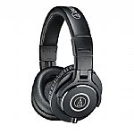 Audio Technica ATH M40X Headphones (black, includes interchangeable straight & coiled cables)