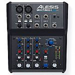 Alesis Multimix 4 USB FX 4 Channel Mixer With Cubase 7 LE Audio Production Software