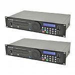 Citronic CDUSB2 Rackmount Combination CD / USB / SD Players (pair)
