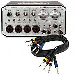 "Akai EIE Pro Electromusic Audio & MIDI Interface Expander + FREE 4 Way 1/4"" Jack Wiring Loom Audio Cable (black, 3m)"
