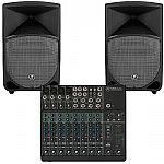 Mackie 1202VLZ4 12 Channel Mixer + Mackie Thump 15 Powered PA Speakers (pair) (REDUCED PRICE BUNDLE)