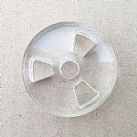 Phonic Design Clear Acrylic 45 Adapter (Reel design)