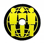 Third Man Records Plastic 45 RPM Record Adapter (black/yellow)