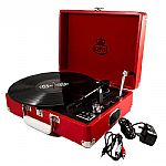 GPO Attache USB Turntable With USB Stick Included (pillarbox red)