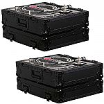Odyssey Black Label Series FZ1200BL Turntable Cases (pair, black)