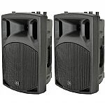 QTX QX12A Active PA Speakers (pair)