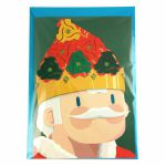 Factory Road Dink 45 Adapter Christmas Card (King Of Christmas)