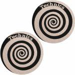 Slipmat Factory Technics Spiral Slipmats (pair, black/silver)