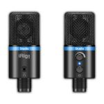 IK Multimedia iRig Mic Studio Condenser Microphone For iPhone iPad iPod Touch Mac PC & Android (black)