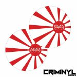 "Criminyl Rising Sun 7"" Slipmats (pair)"