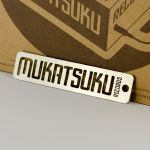 Mukatsuku Branded Laser Cut Steel Keyring Set (keyring/button badge/sticker)