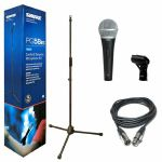 Shure PGA58 BTS Cardioid Dynamic Vocal Microphone Kit With Tripod Boom Microphone Stand