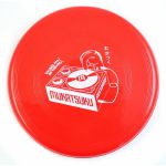 Mukatsuku Records Are Our Friends Scarlet Red Frisbee: Weekend Fun Edition (red frisbee with white print) (Juno exclusive)