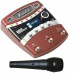 Digitech Vocalist Live Harmony Processor Pedal + FREE Dynamic Switched Vocal Microphone (black)