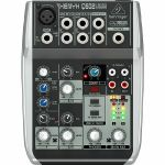 Behringer Q502 USB Xenyx Premium 5 Input, 2 Bus Mixer With Traktion 4 Audio Production Software (B-STOCK)