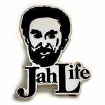 Jah Life Enamel Pin Badge (silver & black)