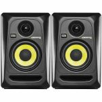 KRK Rokit RP4 G3 Active Studio Monitor Speakers (pair, black with yellow cone)