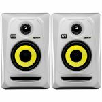 KRK Rokit RP4 G3 Active Studio Monitor Speakers (pair, white with yellow cone)