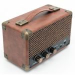 GPO Mini Westwood Rechargeable Battery Powered Bluetooth Speaker (brown)