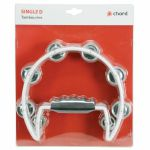 Chord Single D Shaped Tambourine (white)
