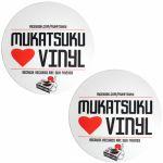 Mukatsuku Loves Vinyl Design Slipmats (pair, red/white/black) *Juno Exclusive*