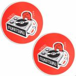 Mukatsuku Records Are Our Friends Bold Scarlet Red Slipmats (pair, red) *Juno Exclusive*