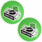 Mukatsuku Records Are Our Friends Olive Rays Slipmat (pair, olive & green rays design slipmat)  *Juno Exclusive*