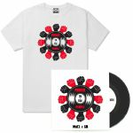 "101 Apparel Power To The People T-Shirt With 7"" & Mix CD/Cassette (white, medium)"