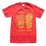 Future Times Pineapple T-Shirt (extra large, red/yellow)
