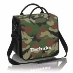 Technics Backpack 12 Inch LP Vinyl Record Bag (green camo with white logo)