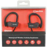 AV Link IPX7 Bluetooth Waterproof Wireless In Ear Headphones (black)