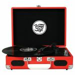 Vinyl Styl Groove Portable 3 Speed Turntable (Red) (B-STOCK)