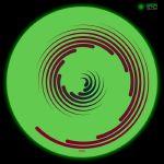 Glowtronics Spiral Glow In The Dark Slipmats (pair)