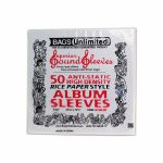 "Bags Unlimited Anti-Static High Density Rice Paper Style 12"" Vinyl Record Sleeves (pack of 50)"