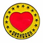 Orthodox Heart Enamel Pin Badge