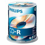 Philips CDR 80 Minute 700MB Blank Discs (spindle of 100)