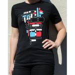 4ms Colour Shapes T Shirt (black, medium)