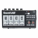 Sound LAB 4 Channel Mono Microphone Mixer With Effects
