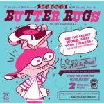 """DJ Q Bert Thud Rumble 7"""" Butter Rugs v3 Slipmats (white, pair)"""
